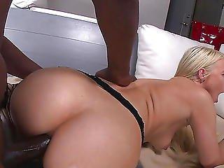 Large Dark Penis Spreads Anikka Albrite's Anus