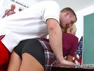 Naughty Blonde Schoolgirl