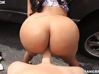 Perct Ebony Booty Bouncing On Dick