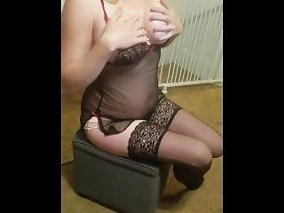 Blonde Wife Playing With Her Huge Oiled Tits On Chaturbate