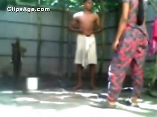 Indian Young Bangladeshi Couple Bathing Outdoor And Having Sex Video Exposed