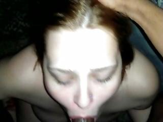 Amateur, Blowjob, Interracial, Pov, Swallow, Teen, White
