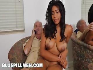 cul, gros cul, gros téton, black, cul de black, nique, marrant, grand-père, interracial, vieux, homme âgé