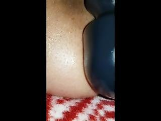 Milf Fills Her Ass With 10 Inch Dildo, And Has Magic Wand On Her Clit