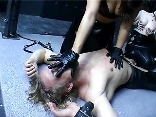 Two Charming Dominas With Slave 04
