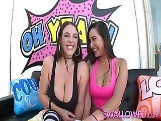 Swallowed Karlee Grey And Angela White Deepthroat Time