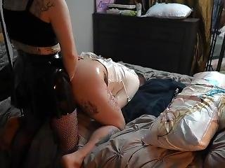 8 Person Strapon Rotating Gangbang Tattooed Straitjacket Bottom