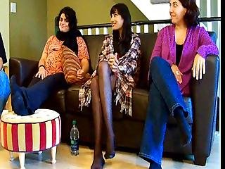 Candid Legs On Tv