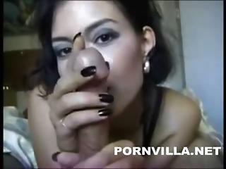 Sexy Beautiful Girl Teasing Handjob And Cumjob