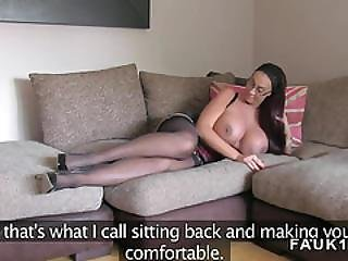 Massive Boobs British Babe In Casting
