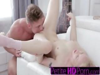 Young Blonde Gets Hard Fuck And Mouthful Of Cum