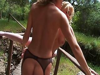 Madelyn Marie And Natasha Marley In A Hot Outdoor Threesome