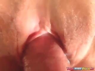 amatör, anal, röv, brud, stor röv, stortuttad, närbild, kräm, creampie, avrunkning, onani, spruta