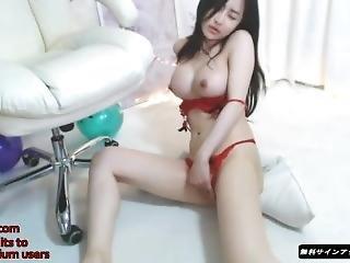 Amateur, Asiatique, Bonasse, Fille Webcam, Coréene, Masturbation, Petits Seins, Solo, Webcam