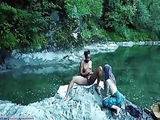 Lesbian Sex Ritual Squirting Voyeur Porn - Coming Soon - Carlacain X Candicain Girl Girl Outdoor Drone Spy River Forest Hiking Hiker Nature