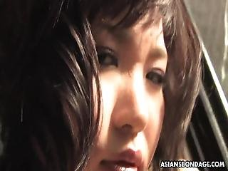 Kana Mimura Seems To Have A Kink On Jails, Because Every Time She Is Behind Bars, She Has An Urge To Suck Cock And Rub It While Listening To A Guy Moaning