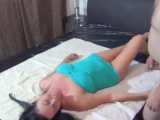 Brunette Gets Throatfuck To Puke On Cock #1