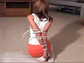 Ziptied Hooters Girl
