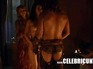 Naughty Sex Parts From Spartacus Celebrity Boobs Ass And Pussy