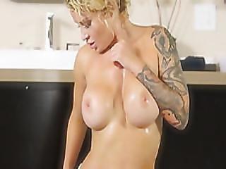 Tattooed Daisy Monroe Nuru Massage Rides Big Cock
