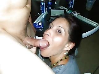 Eager Hotwife Makes Guy Explode In Her Mouth Then Thanks Him