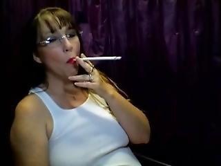 Hot Milf Smoking A 200mm Cig