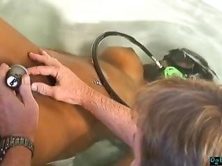 badekar, stort bryst, sæd, udlænding, fetish, kar, ung