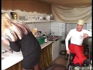 ξανθιά, γαμήσι, γερμανικό, κουζίνα, σέξυ, κάλτσα, ψηλός, λευκό