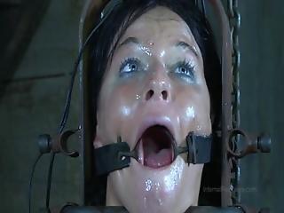 Strappado Claustrophobia And Orgasm Predicament For Captive Girl