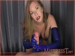 Blue Rubber Gloves Milking