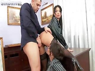 Upperclassfuckfest - Anissa Kate Nikita Devine - If The Boss Gets Mean Office Chicks Become Ass And 0