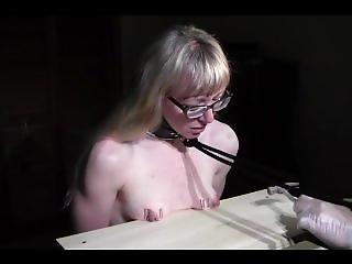 Tied Girl Had Tits Nailed To Board