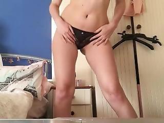 Amateur Panty Tease And Masturbation