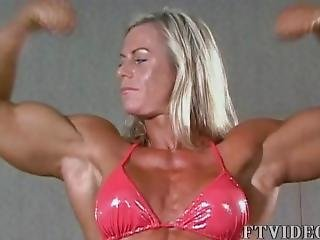 Muscle Goddesses Video #12 - Christine Posing In 2 Different Outfits