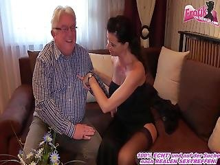 German Milf With Big Tits Fucks Grandpa At Escort Date