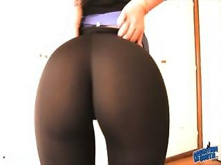 Big Booty Latina With Perfect Tight Pants Inside Ass