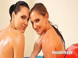 Two Sexy Girls Enjoying Lesbian Bath