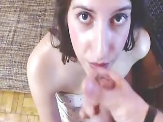 Skinny Teen Blowing Her Boyfriend...