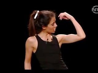 Skinny Girl Popping Amazing Biceps (sophia Aram)