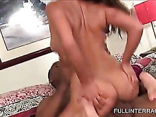 Sensual Babe Gets Fine Twat Black Pounded
