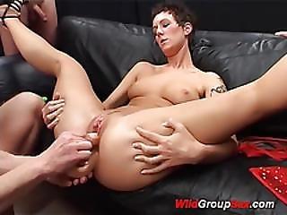 Big Ass German In Wild Groupsex Orgy