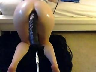 Kittydarling Takes Massive Dildo Anal
