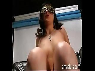 Solo Sex For A Sexy Woman In Mask