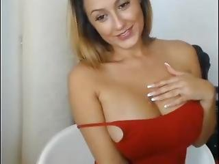 Young Blackhair Girl With Big Tits Is Shy On Webcam