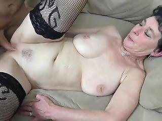 Granny Playing Then Fucking