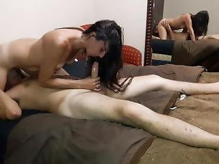 Kitty Gets Choked Out, Pounded,& Squirts!
