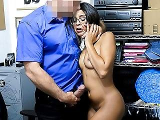 Shoplyfter - Crying Latina Teen Gets Fucked Hardcore By Mall Cop