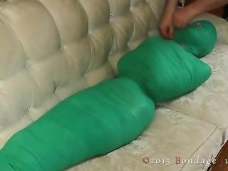 Mummified In Green Tape