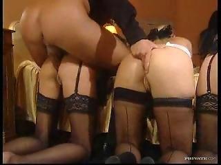 Anal, Czwórka, Pokojówka, Masturbacja, Pończocha