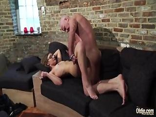 Old And Young Porn   Grandpa Fucks Teen Pussy Fingers Her Twat And Cumshot